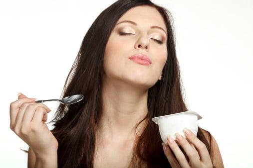 yogur y miel para el cabello