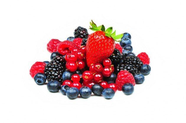 Frutos rojos que reducen el colesterol