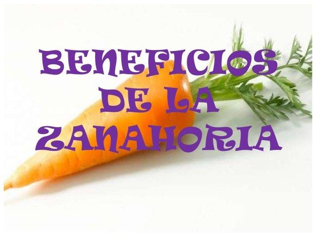 beneficios de las zanahoria