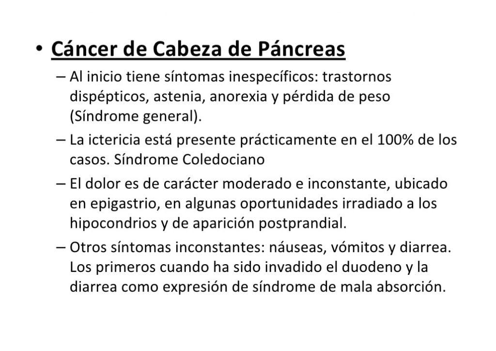 La Ictericia y el cáncer de páncreas